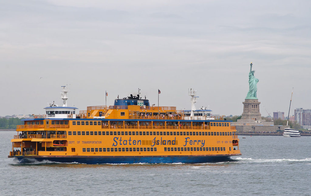 The Staten Island ferry is how to get around New York City while taking in its most iconic sights ... photo by CC user InSapphoWeTrust on Flickr