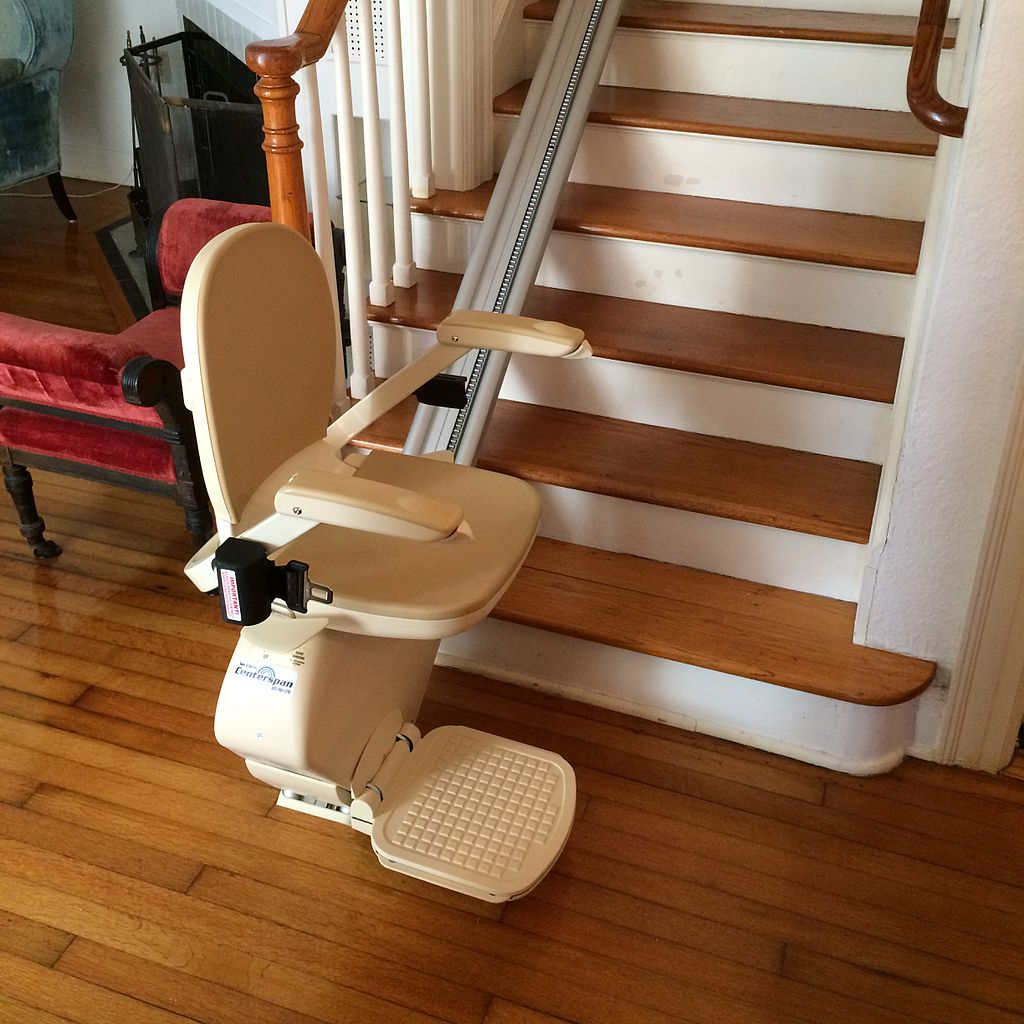 Installing a stair lift is one way to modify a home for an elderly family member